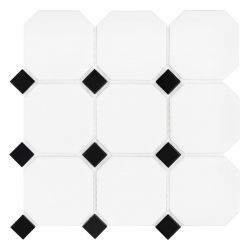 Dunin Arabesco Octagon White 95 matt 30,1x30,1