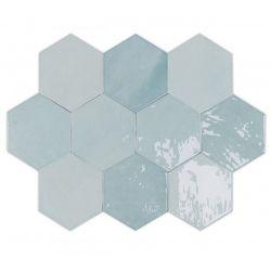 WOW Zellige Hexa Aqua 10,8x12,4