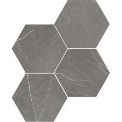 WOW Petra Hexagon Charcoal 20x23