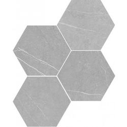 WOW Petra Hexagon Grey 20x23
