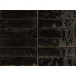 Marazzi M6RP Lume Black LX 6x24 cm