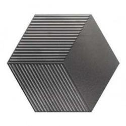 Płytka Heksagonalna, Ścienna WOW Mini Hexa Canale Metallic Steel 15x17,3