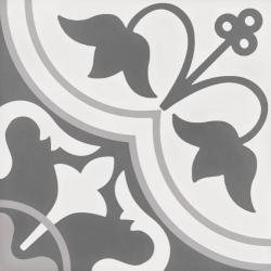 Płytka Gresowa WOW Tradition Decor Grey 1 18,5x18,5  WOW Tradition Decor Grey 1 18,5x18,5