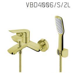 Vedo VBD4006/S/ZL Bateria wannowa z zestawem natryskowym - Złoty
