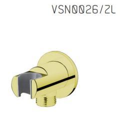 Vedo VSN0026/ZL Przyłącze kątowe z uchwytem słuchawki natryskowej PREMIO I - Złoty
