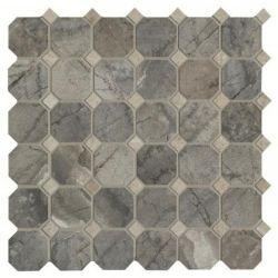 Cisa Royal Marble Moz. Ottagona grigio 33,3x33,3
