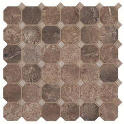 Cisa Royal Marble Moz. Ottagona Noce 33,3x33,3