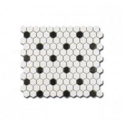 El Casa Mozaika Hexagon Black&White mat 26x30