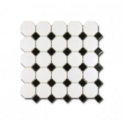 El Casa Mozaika Octagon Black&White 29,5x29,5