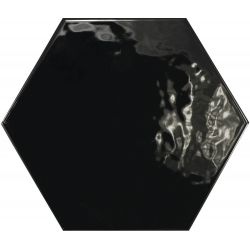 Equipe Hexatile Negro Brillo 17.5x20