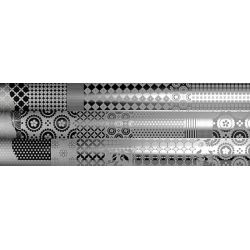Ibero Concept Dec. Patchwork Silver S-93 25x75